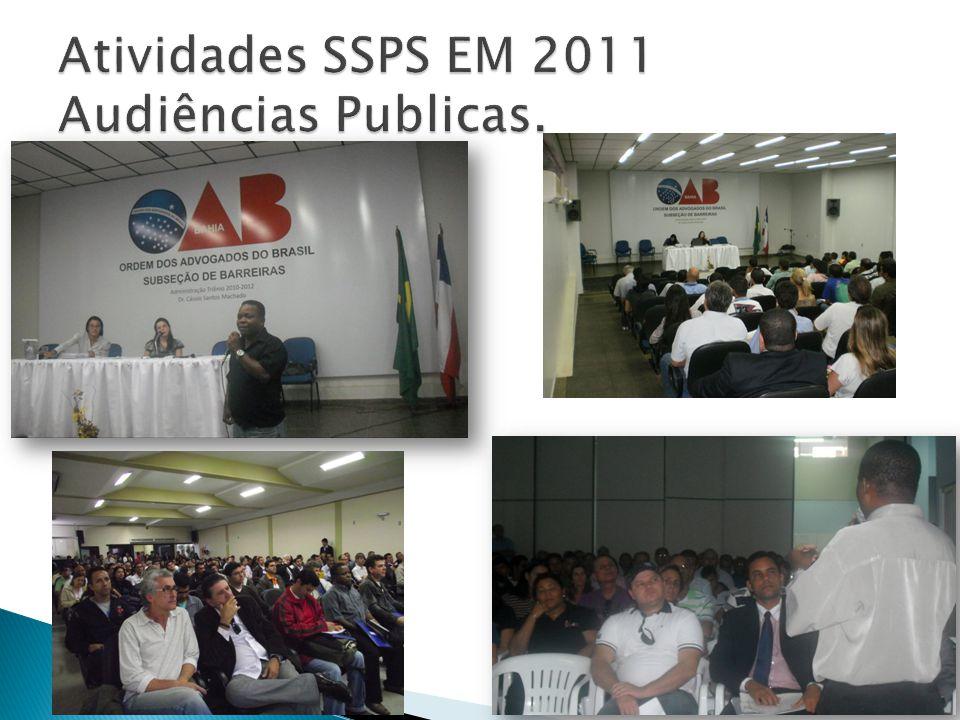 Atividades SSPS EM 2011 Audiências Publicas.