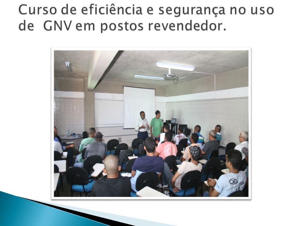 Curso de eficiência e segurança no uso de GNV em postos revendedor.