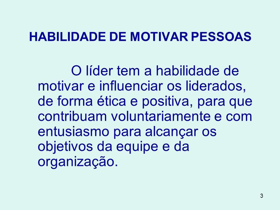 HABILIDADE DE MOTIVAR PESSOAS