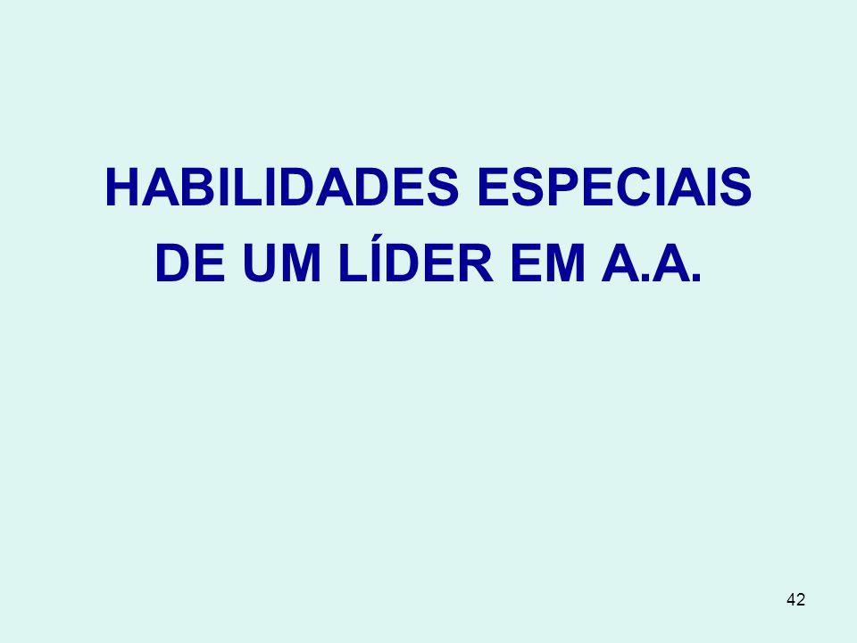 HABILIDADES ESPECIAIS