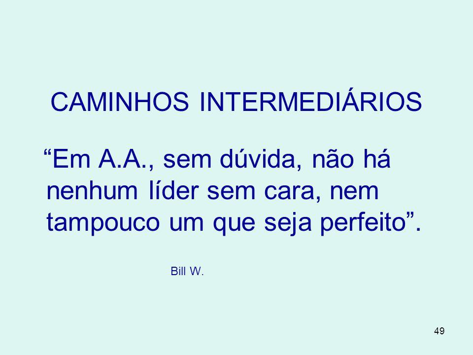 CAMINHOS INTERMEDIÁRIOS