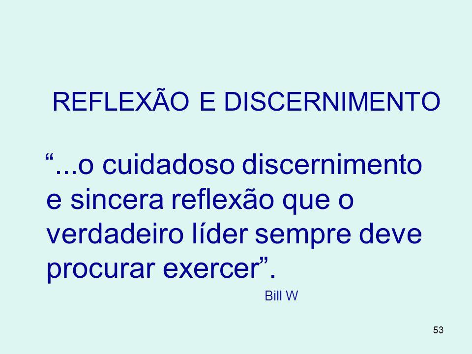 REFLEXÃO E DISCERNIMENTO
