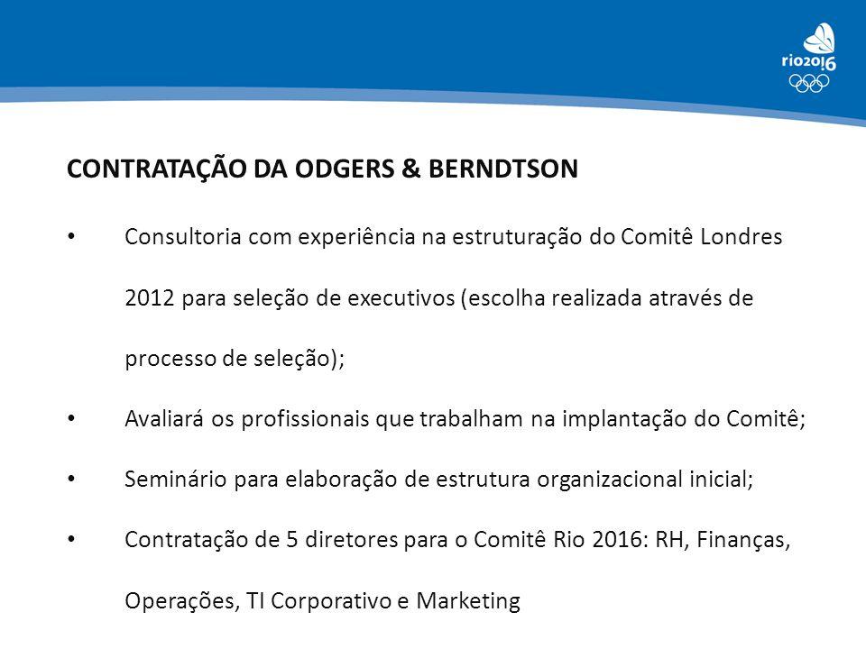 CONTRATAÇÃO DA ODGERS & BERNDTSON