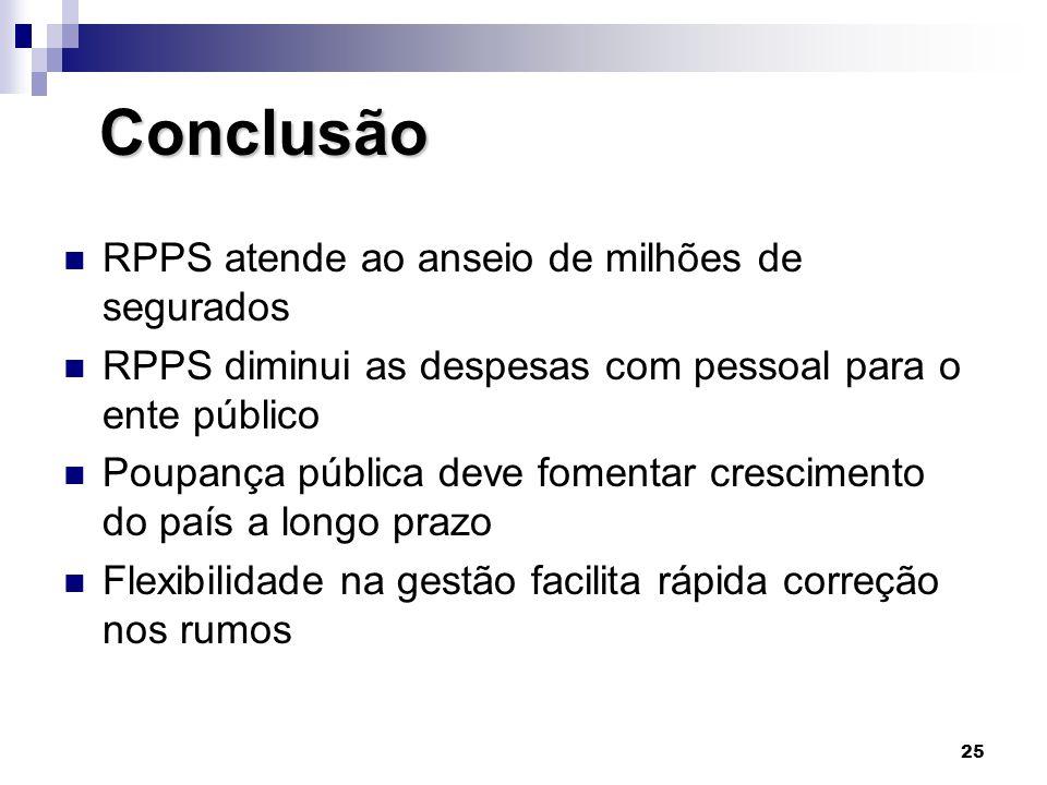 Conclusão RPPS atende ao anseio de milhões de segurados