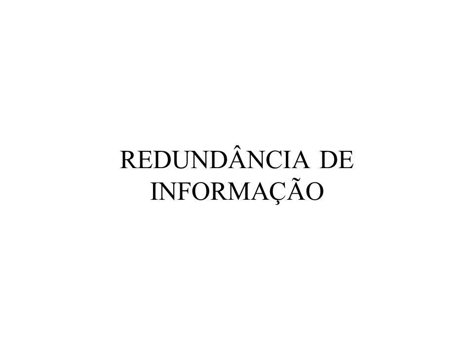 REDUNDÂNCIA DE INFORMAÇÃO