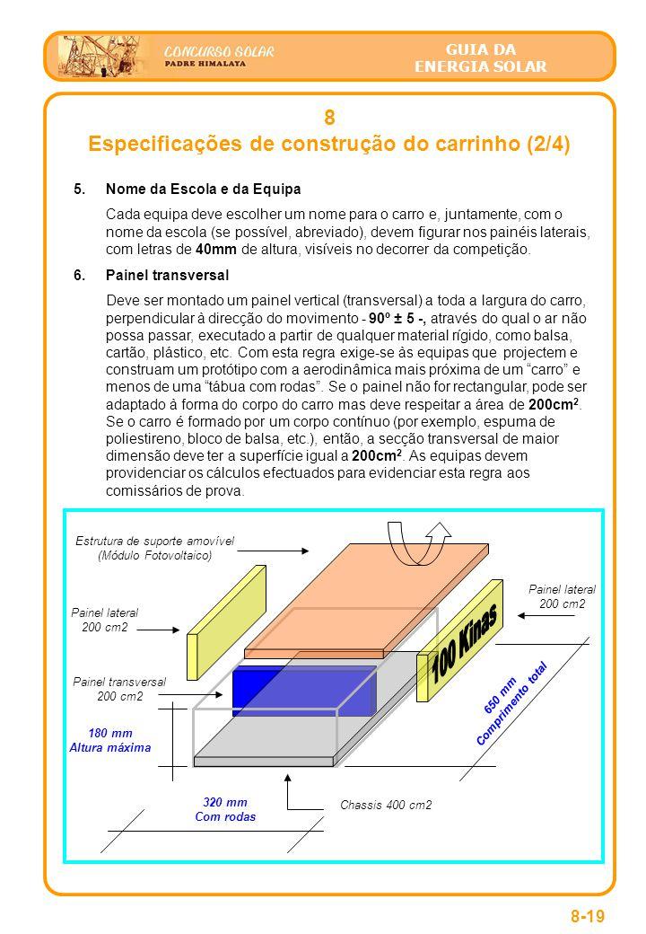 Especificações de construção do carrinho (2/4)