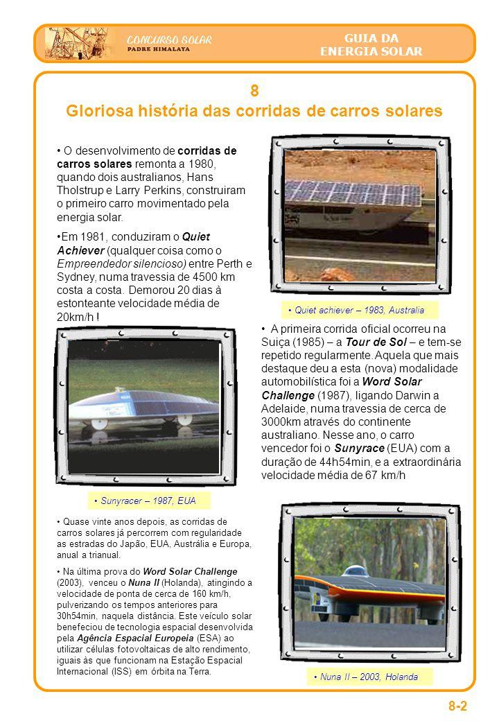 Gloriosa história das corridas de carros solares