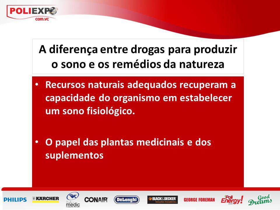 A diferença entre drogas para produzir o sono e os remédios da natureza