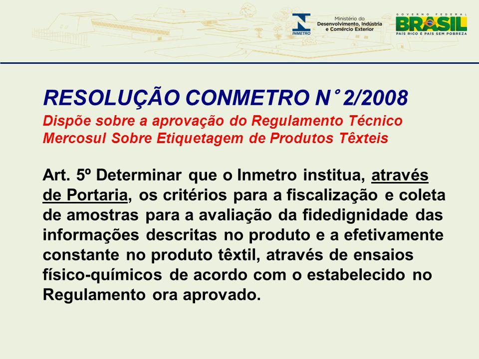 RESOLUÇÃO CONMETRO N° 2/2008