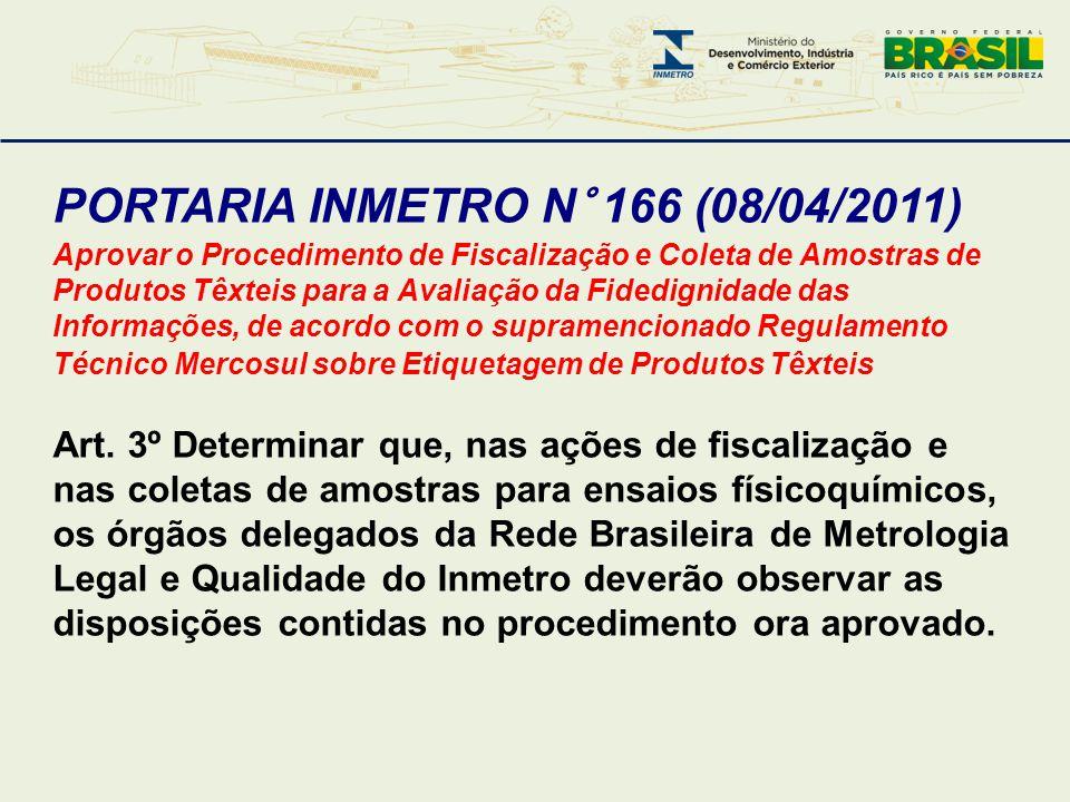 PORTARIA INMETRO N° 166 (08/04/2011)