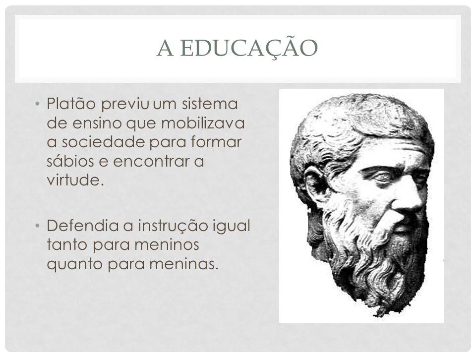 A educação Platão previu um sistema de ensino que mobilizava a sociedade para formar sábios e encontrar a virtude.