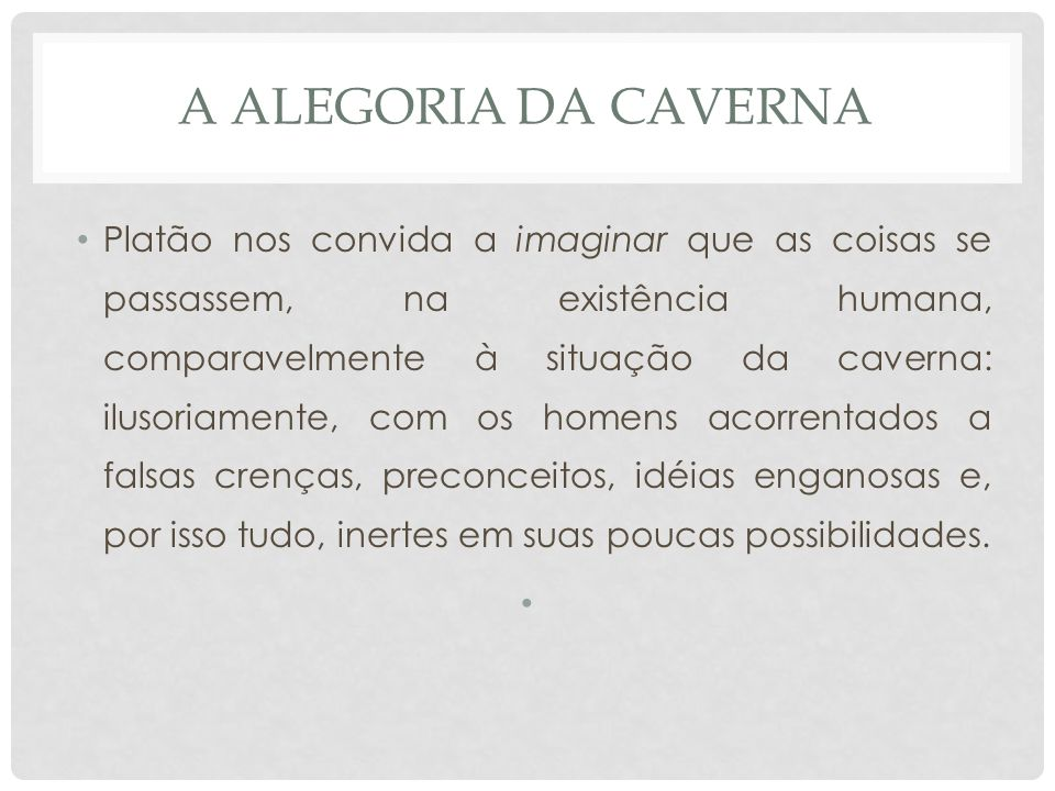 A alegoria da caverna