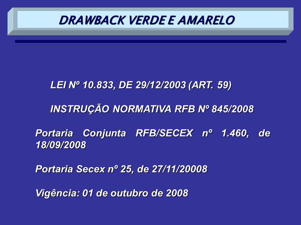 DRAWBACK VERDE E AMARELO