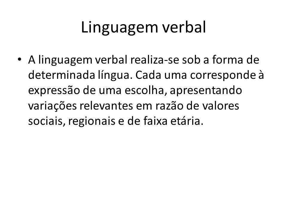 Linguagem verbal