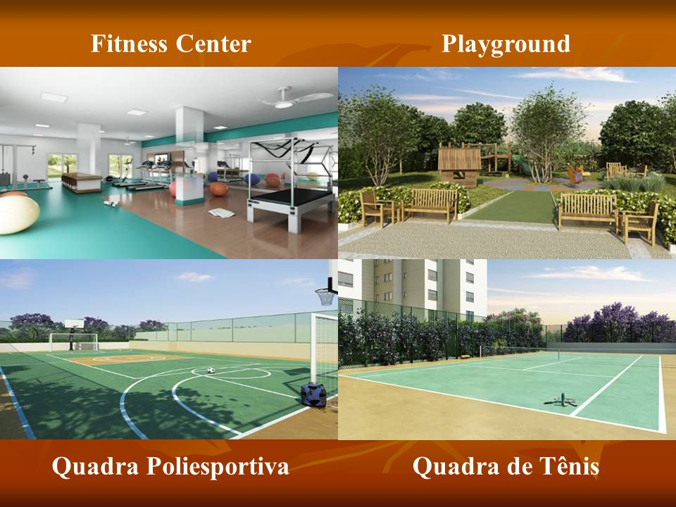 Fitness Center Playground Quadra Poliesportiva Quadra de Tênis