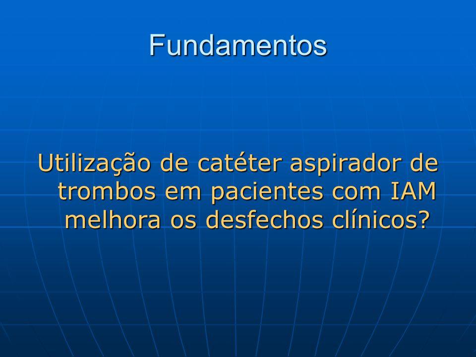 Fundamentos Utilização de catéter aspirador de trombos em pacientes com IAM melhora os desfechos clínicos