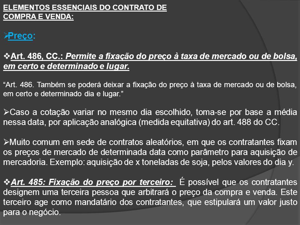 ELEMENTOS ESSENCIAIS DO CONTRATO DE