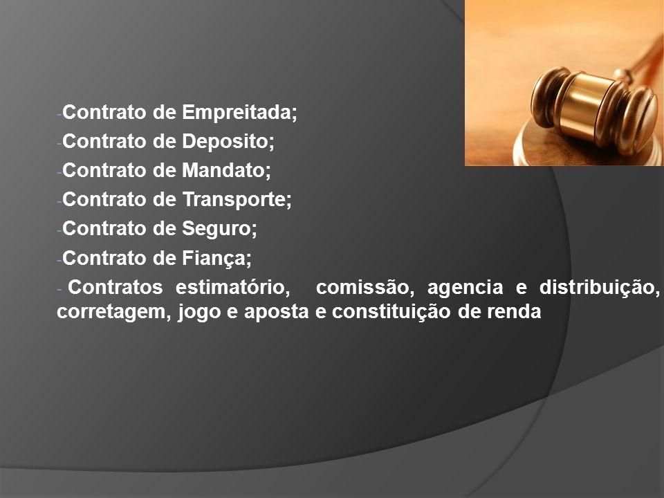 Contrato de Empreitada;