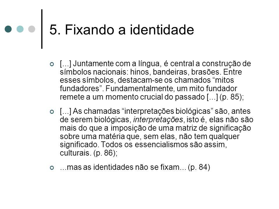 5. Fixando a identidade