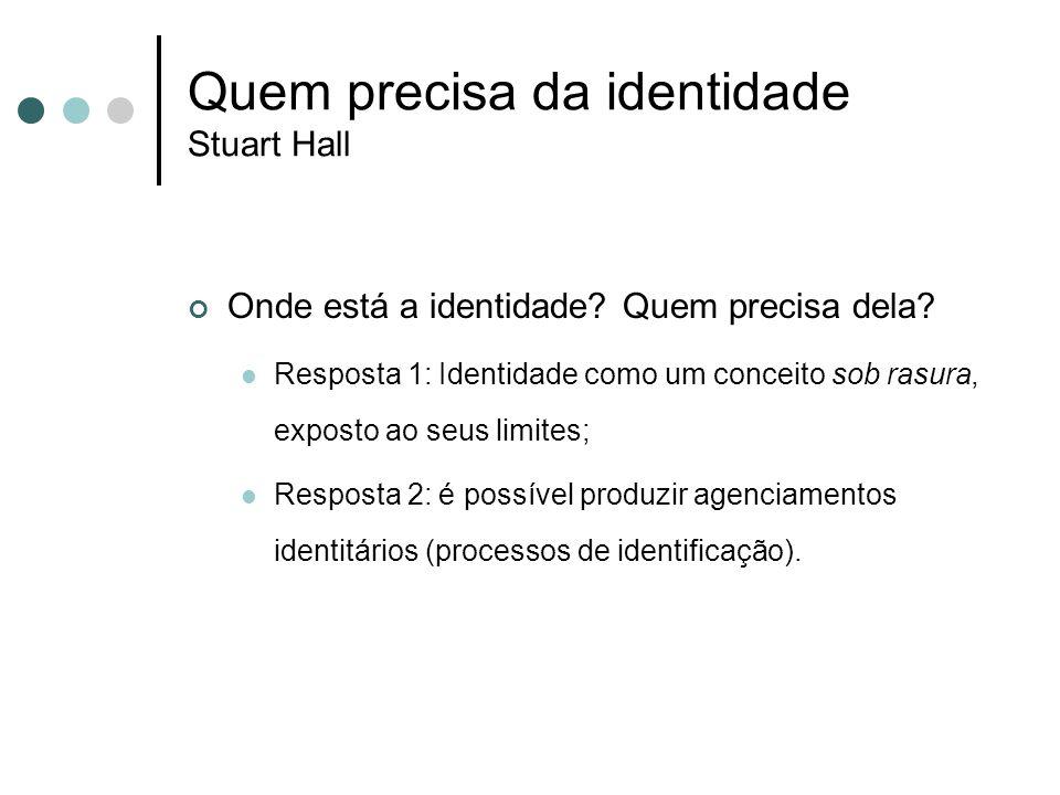 Quem precisa da identidade Stuart Hall