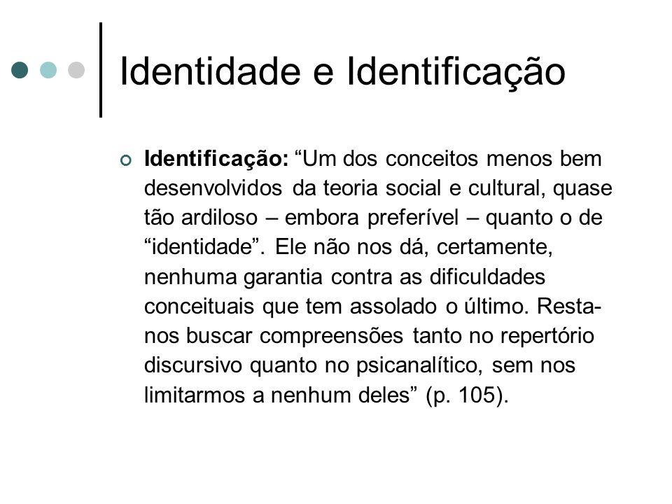 Identidade e Identificação