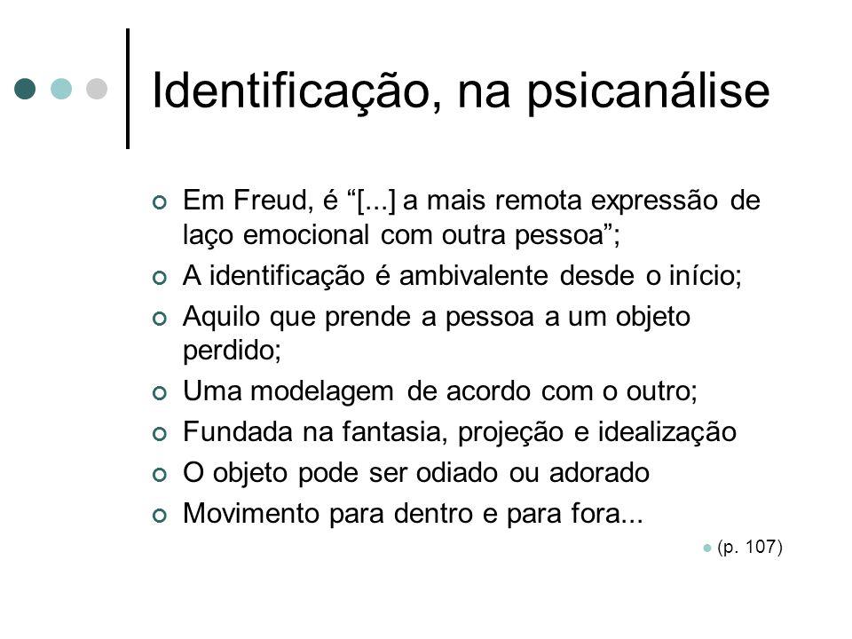 Identificação, na psicanálise