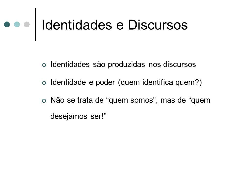 Identidades e Discursos