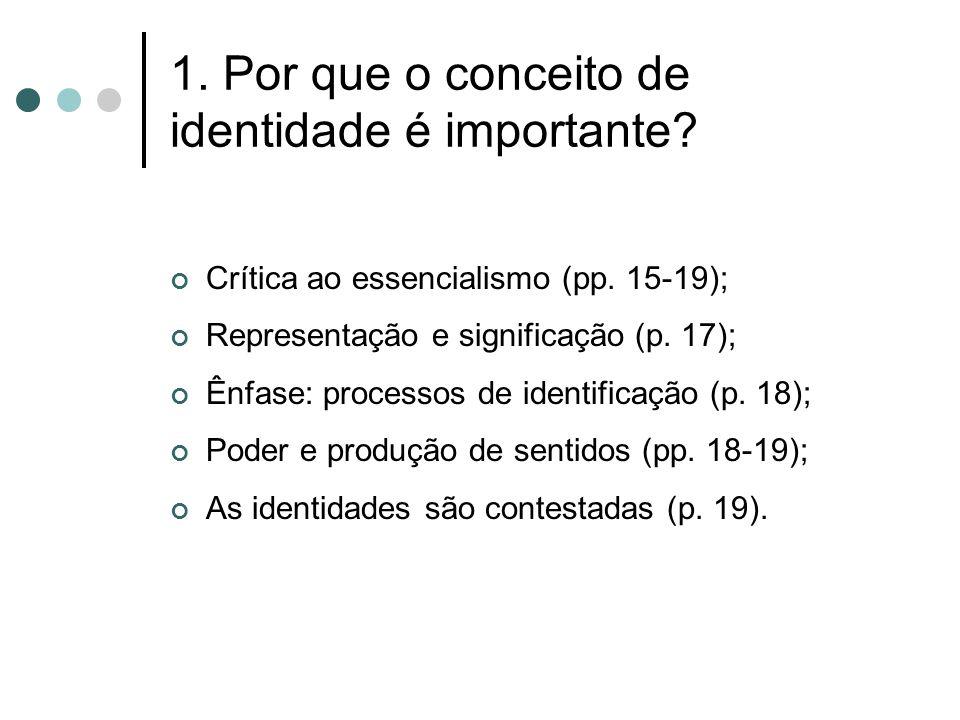 1. Por que o conceito de identidade é importante
