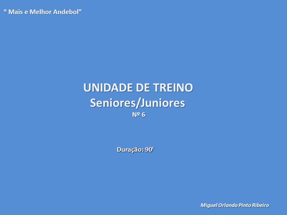 UNIDADE DE TREINO Seniores/Juniores Mais e Melhor Andebol Nº 6