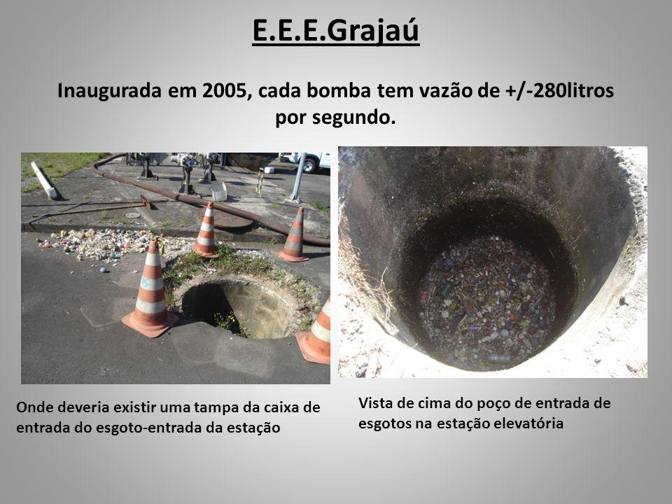 E.E.E.Grajaú Inaugurada em 2005, cada bomba tem vazão de +/-280litros por segundo.