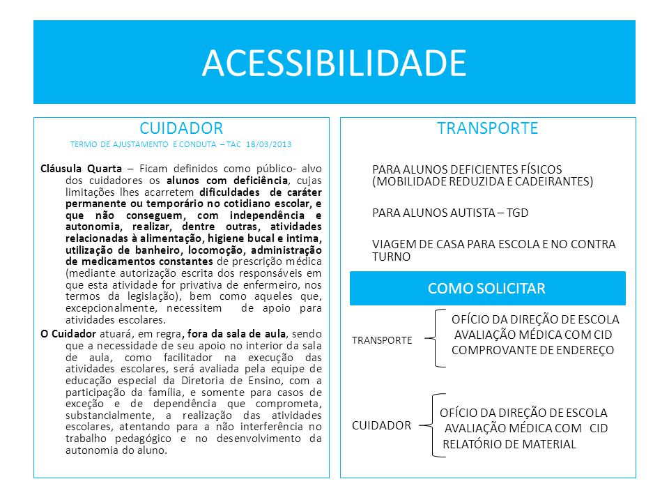 TERMO DE AJUSTAMENTO E CONDUTA – TAC 18/03/2013