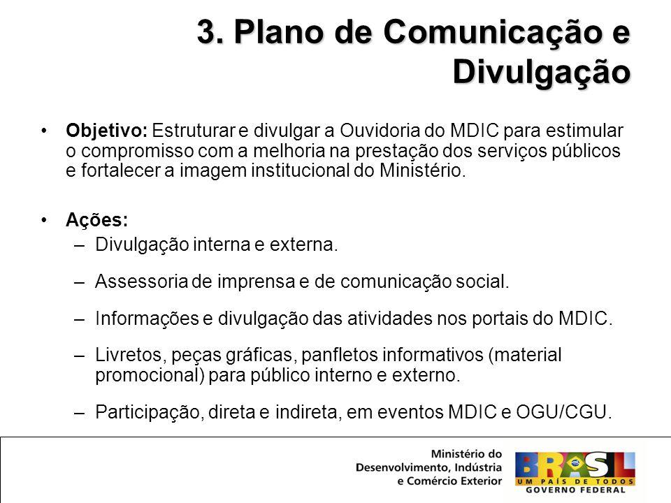 3. Plano de Comunicação e Divulgação