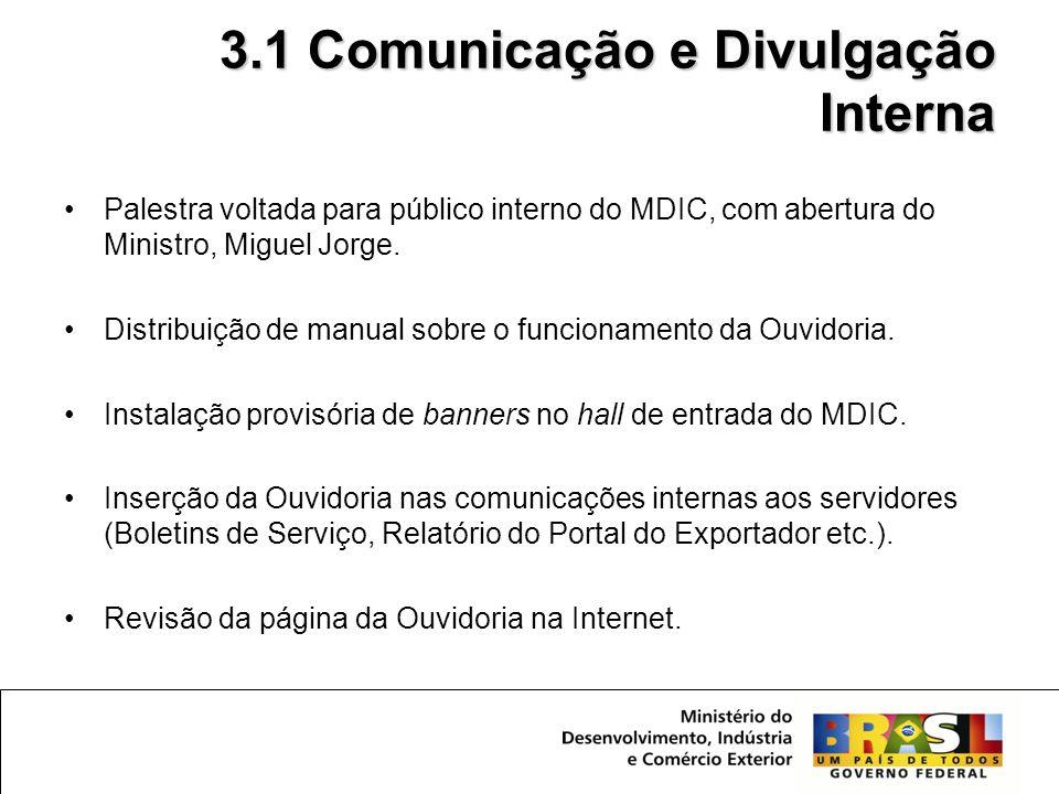3.1 Comunicação e Divulgação Interna