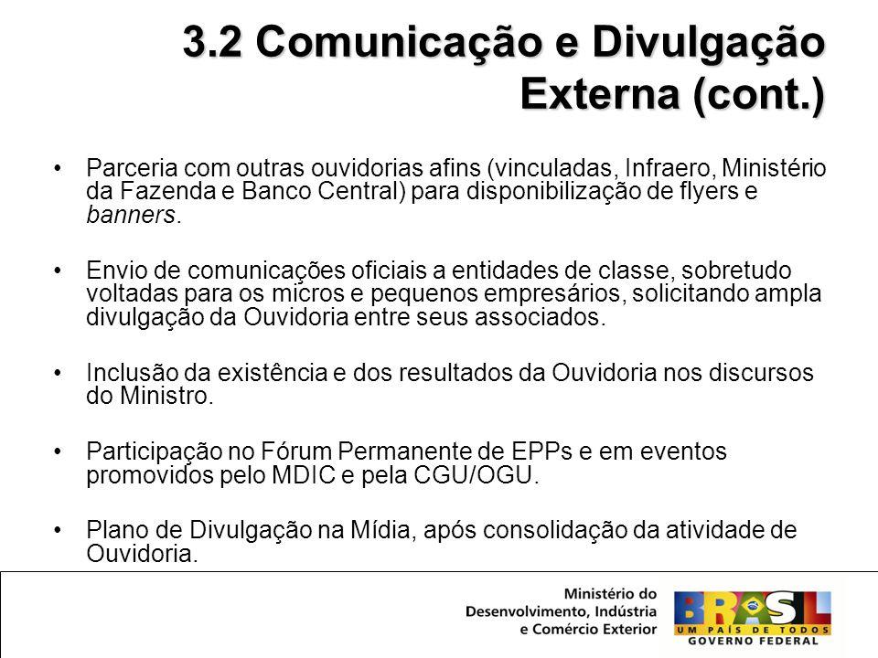 3.2 Comunicação e Divulgação Externa (cont.)