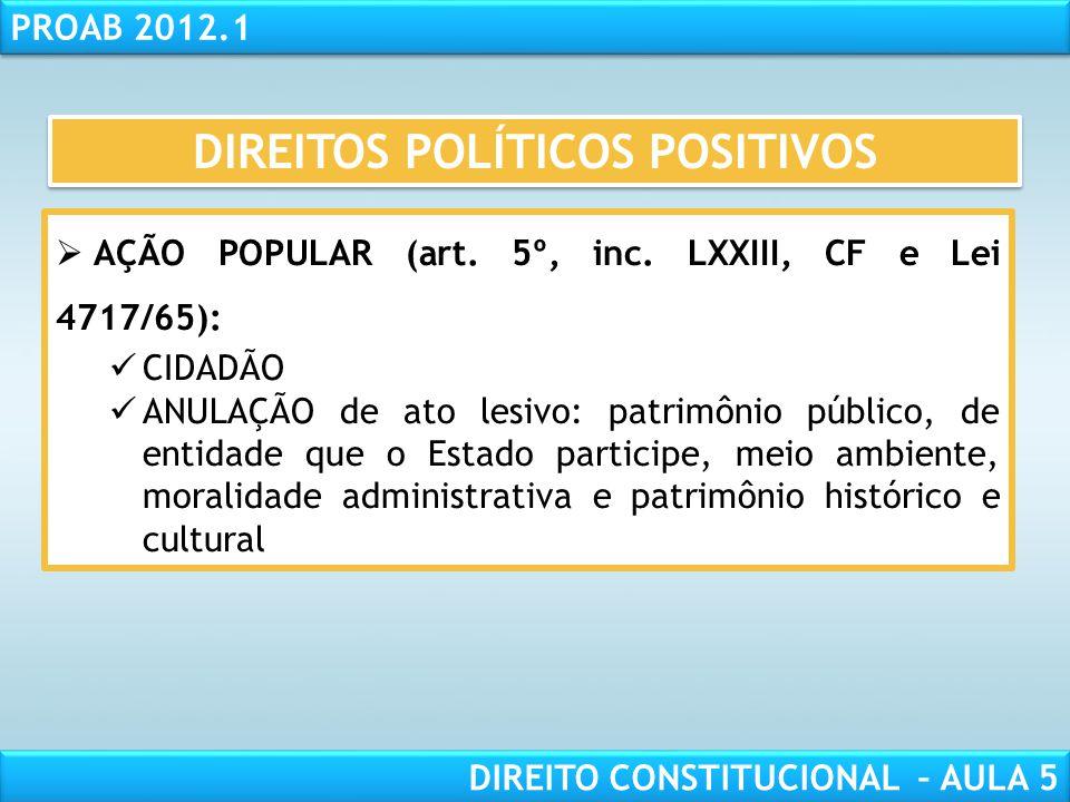 DIREITOS POLÍTICOS POSITIVOS