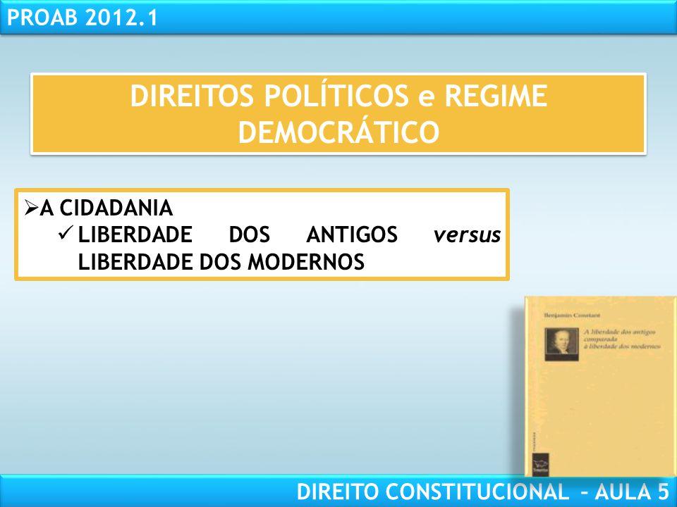 DIREITOS POLÍTICOS e REGIME DEMOCRÁTICO
