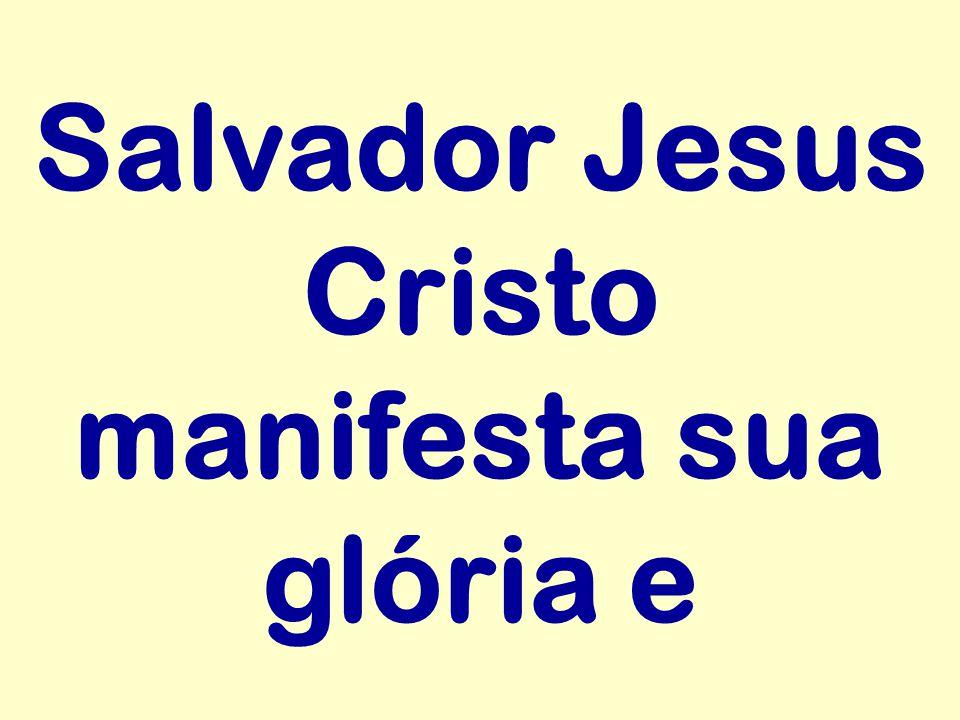 Salvador Jesus Cristo manifesta sua glória e