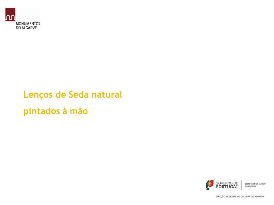Lenços de Seda natural pintados à mão