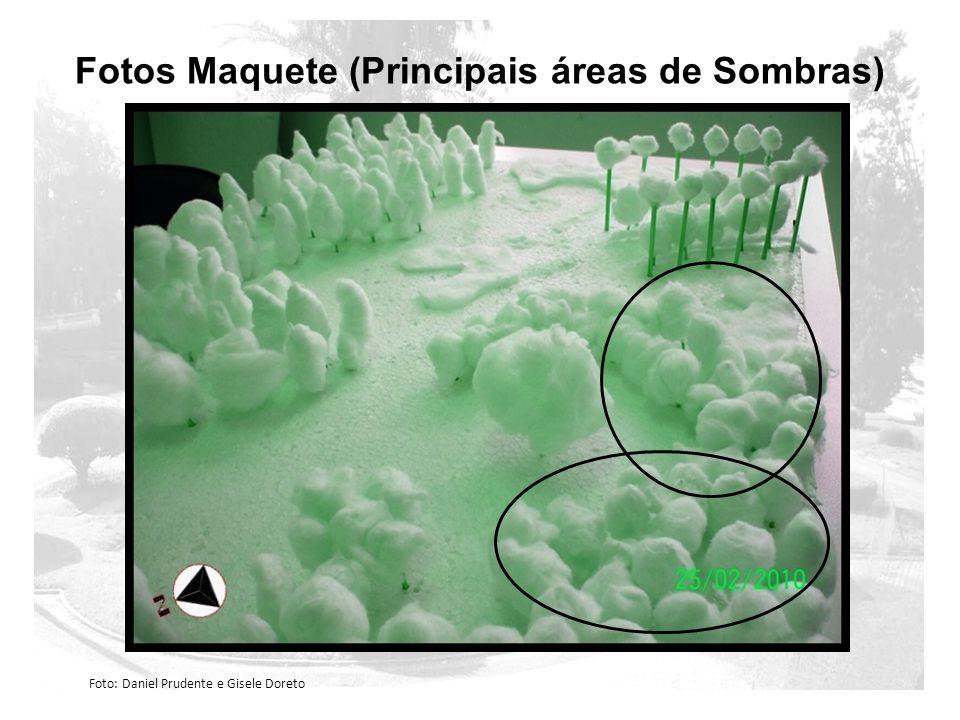 Fotos Maquete (Principais áreas de Sombras)
