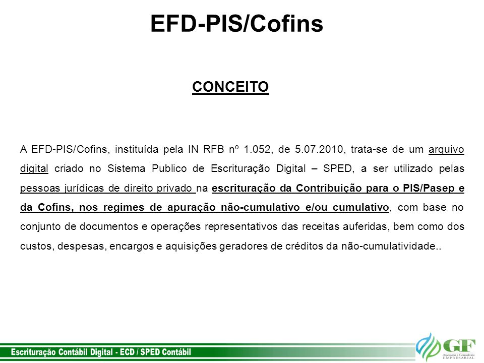 EFD-PIS/Cofins CONCEITO