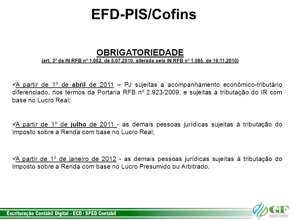 EFD-PIS/Cofins OBRIGATORIEDADE