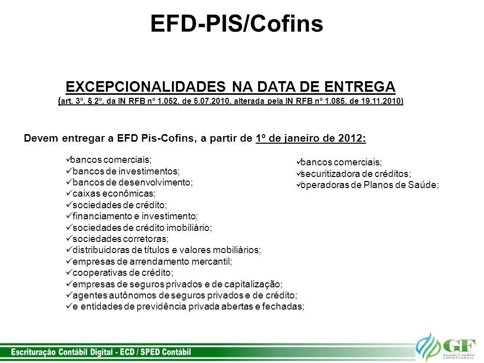 EXCEPCIONALIDADES NA DATA DE ENTREGA