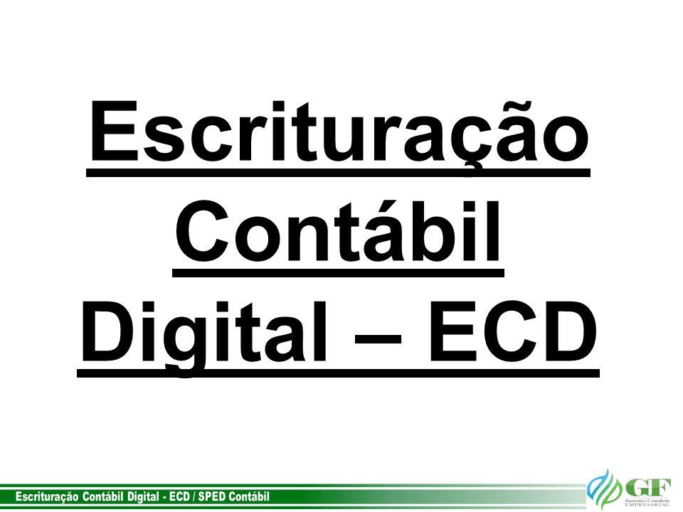 Escrituração Contábil Digital – ECD