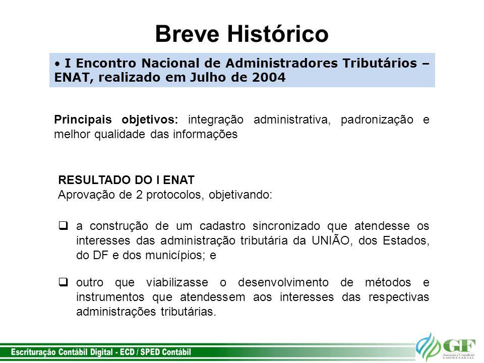Breve Histórico I Encontro Nacional de Administradores Tributários – ENAT, realizado em Julho de 2004.
