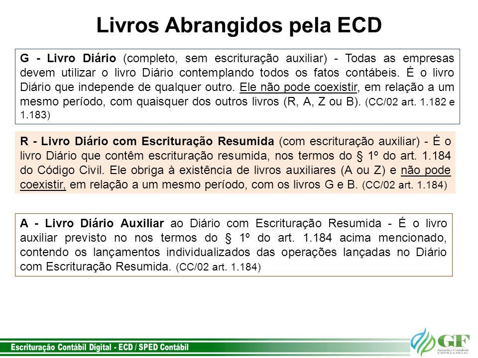 Livros Abrangidos pela ECD