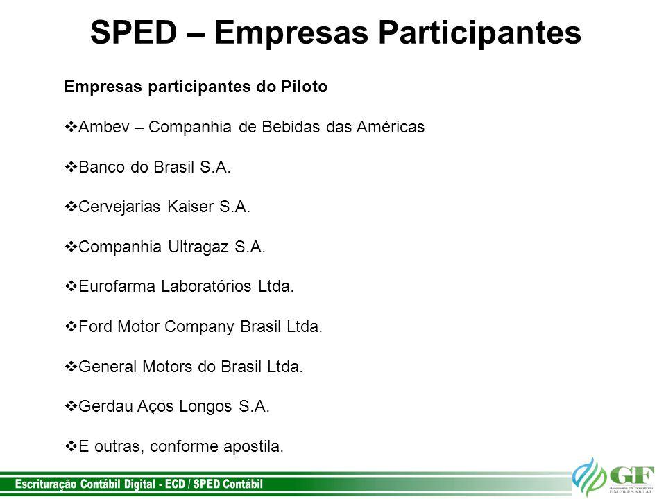 SPED – Empresas Participantes