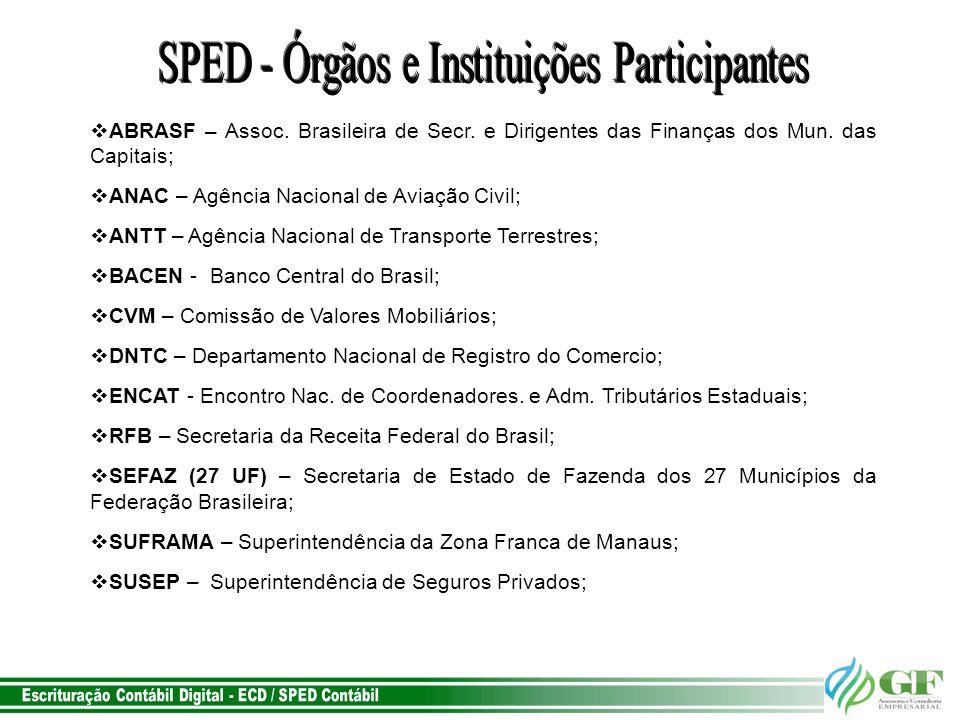 SPED - Órgãos e Instituições Participantes