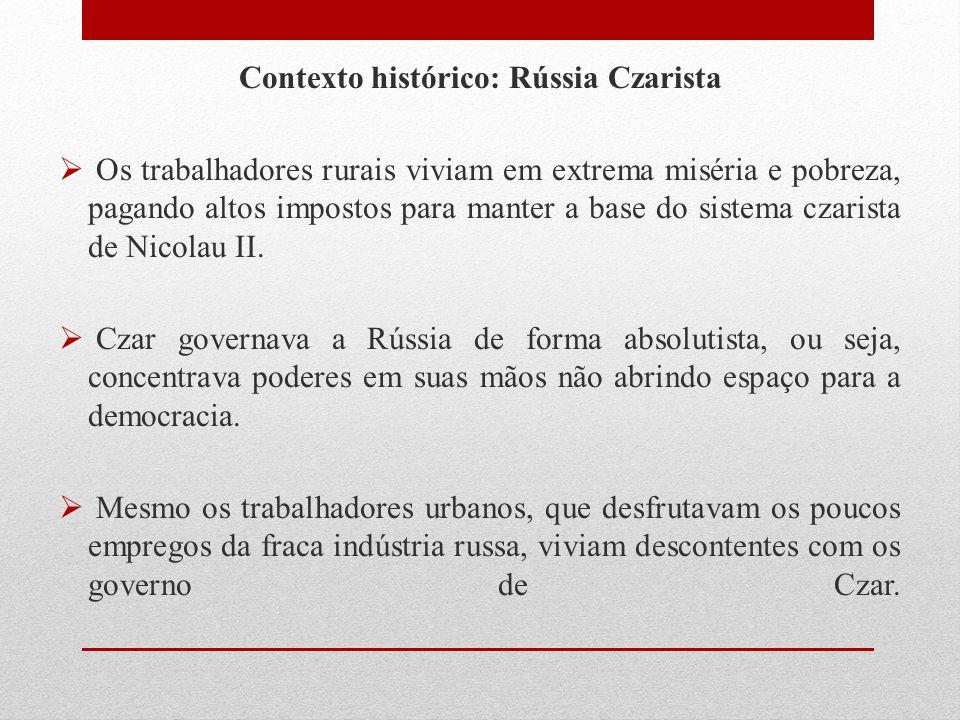 Contexto histórico: Rússia Czarista