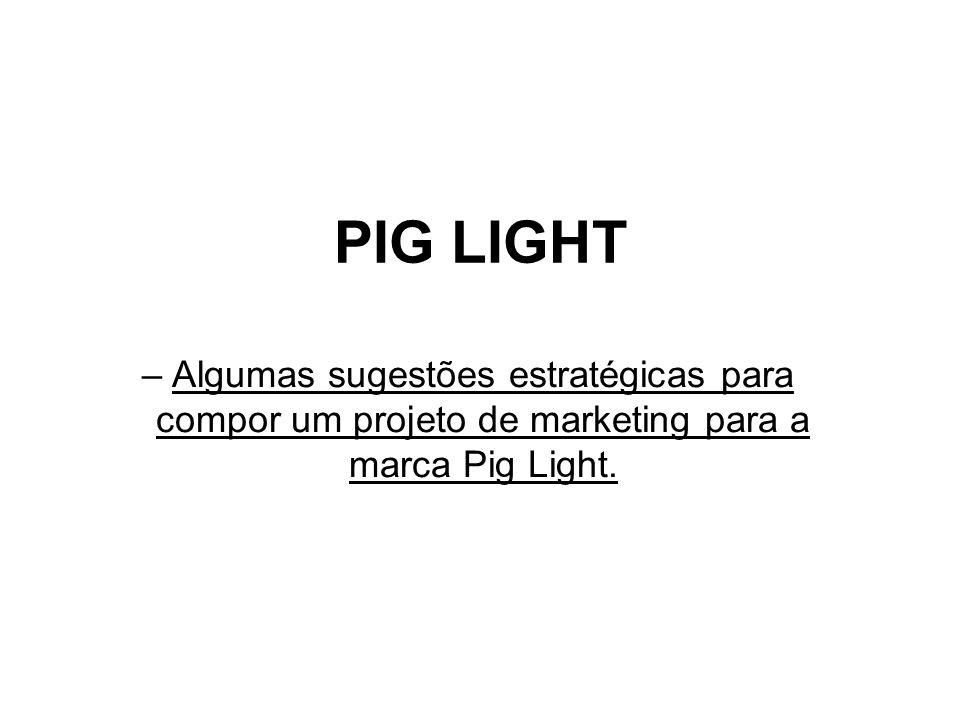 PIG LIGHT Algumas sugestões estratégicas para compor um projeto de marketing para a marca Pig Light.