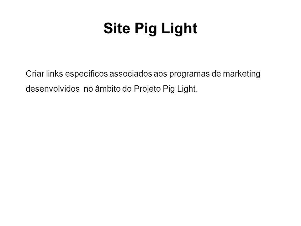 Site Pig Light Criar links específicos associados aos programas de marketing.